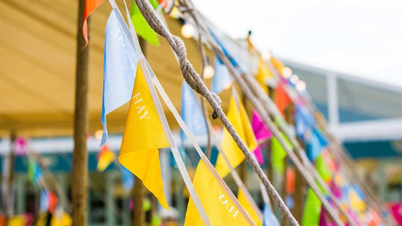 Bunting at Hay Festival