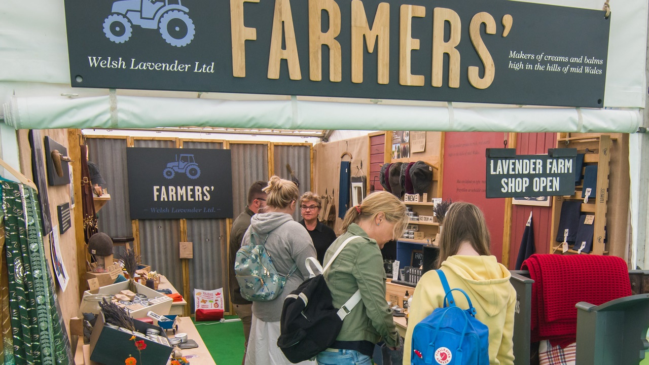 Exhibitor stand at Hay Festival