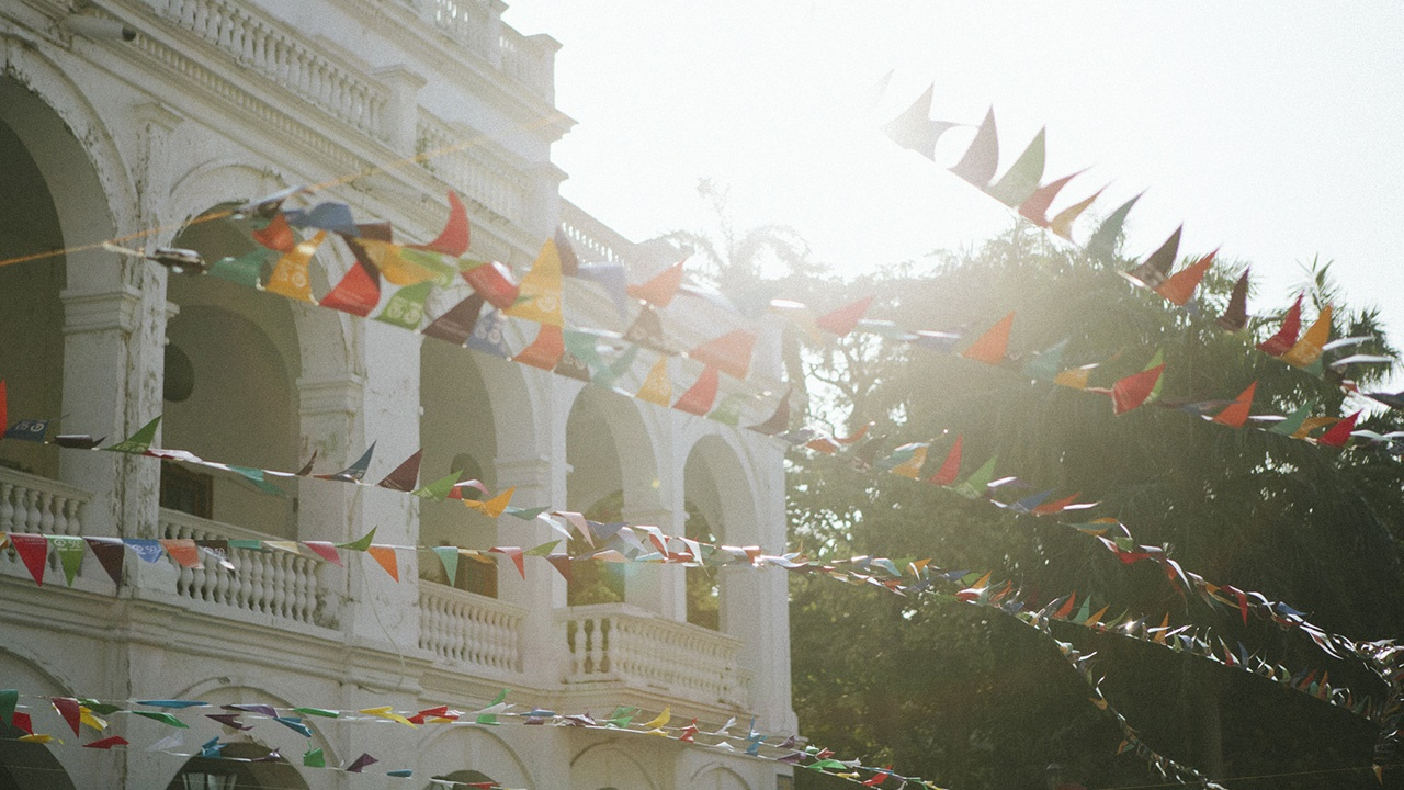 Bunting at Hay Festival in Cartagena