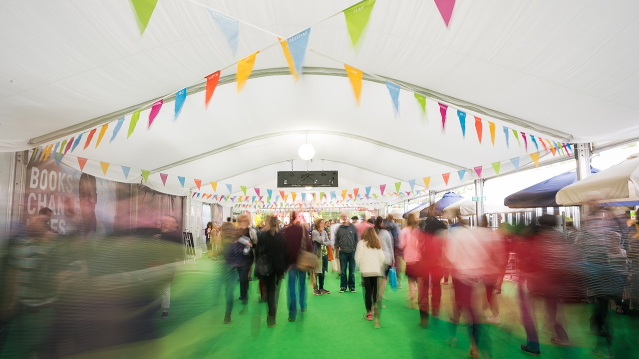 Audience flow at Hay Festival