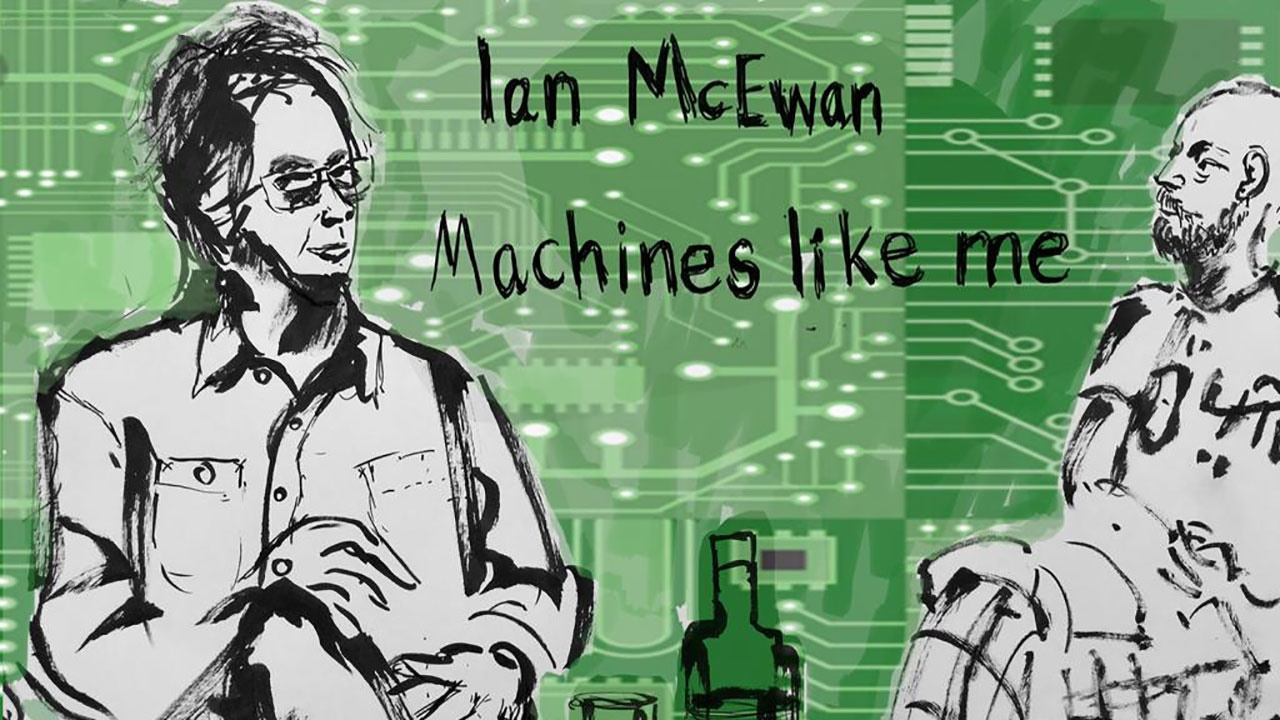 Ian McEwan at Hay Festival. Illustration by Henny Beaumont