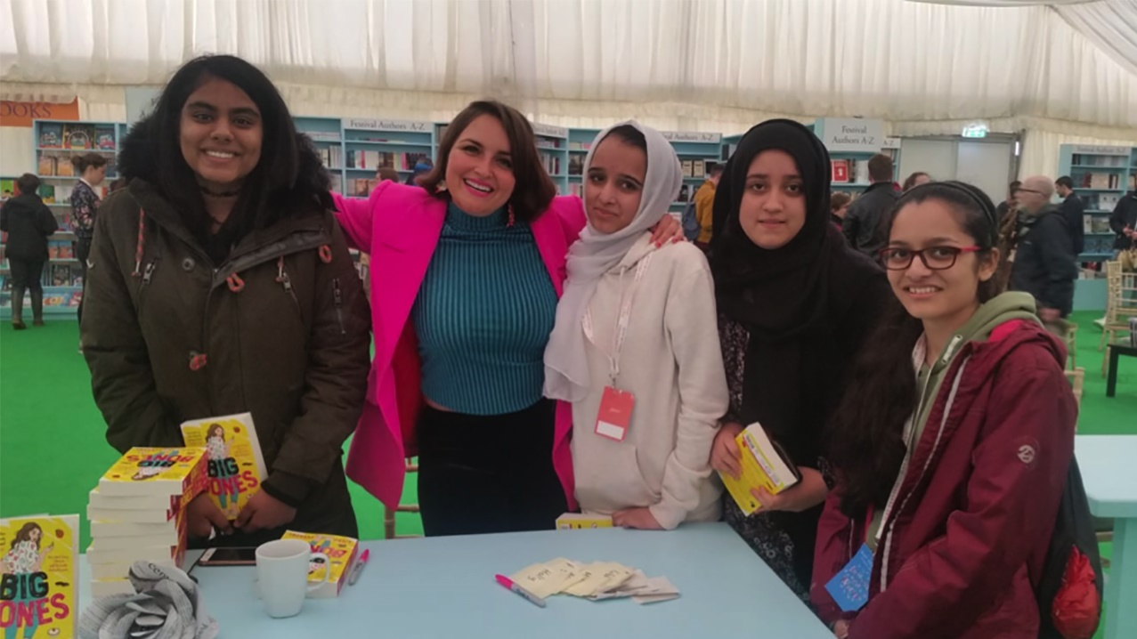 School exchange students at Hay Festival