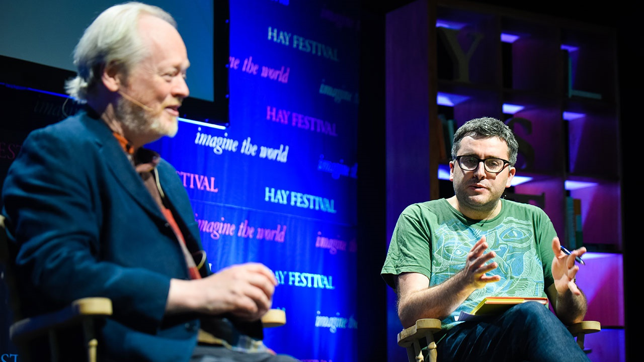 Matthew Francis at Hay Festival Wales. Photo by Sam Peat.