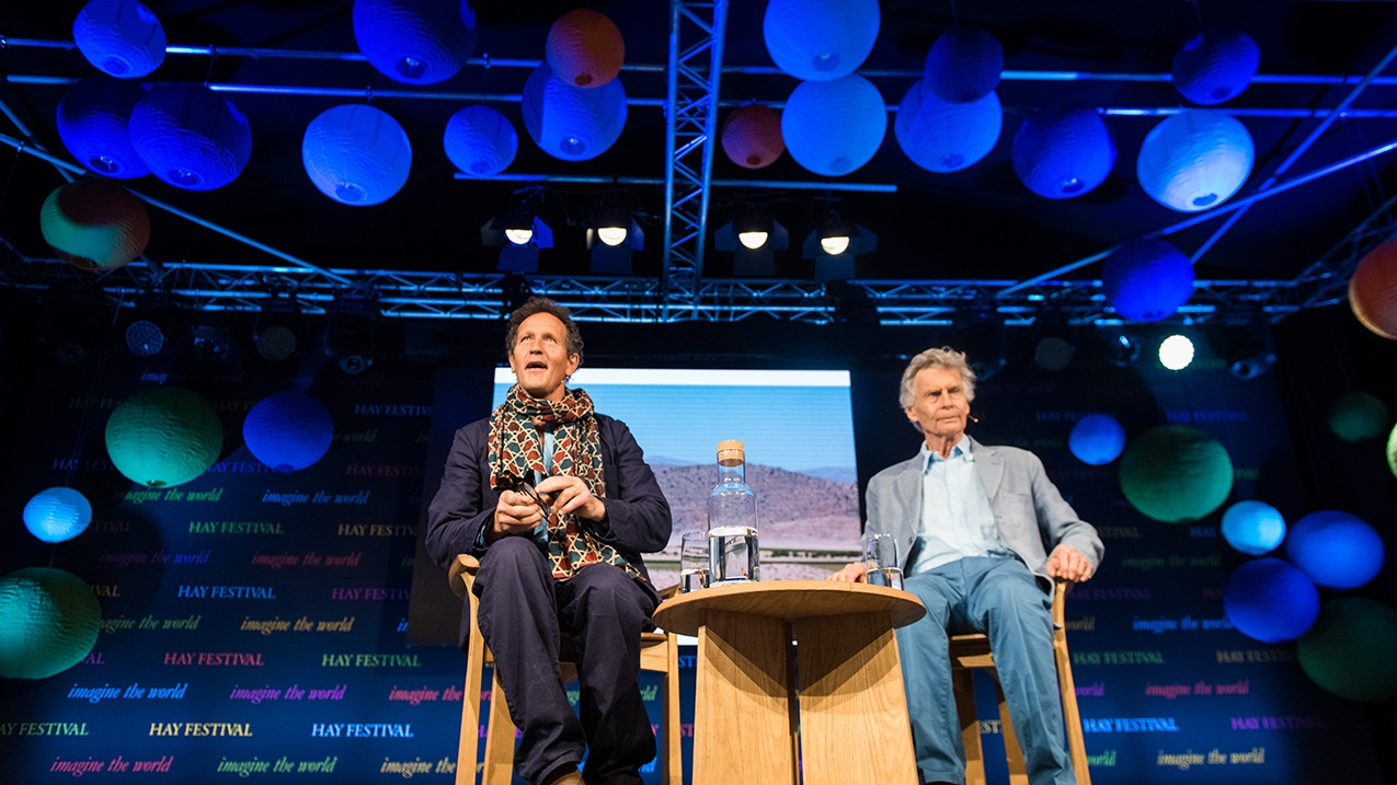 Monty Don on stage at Hay Festival
