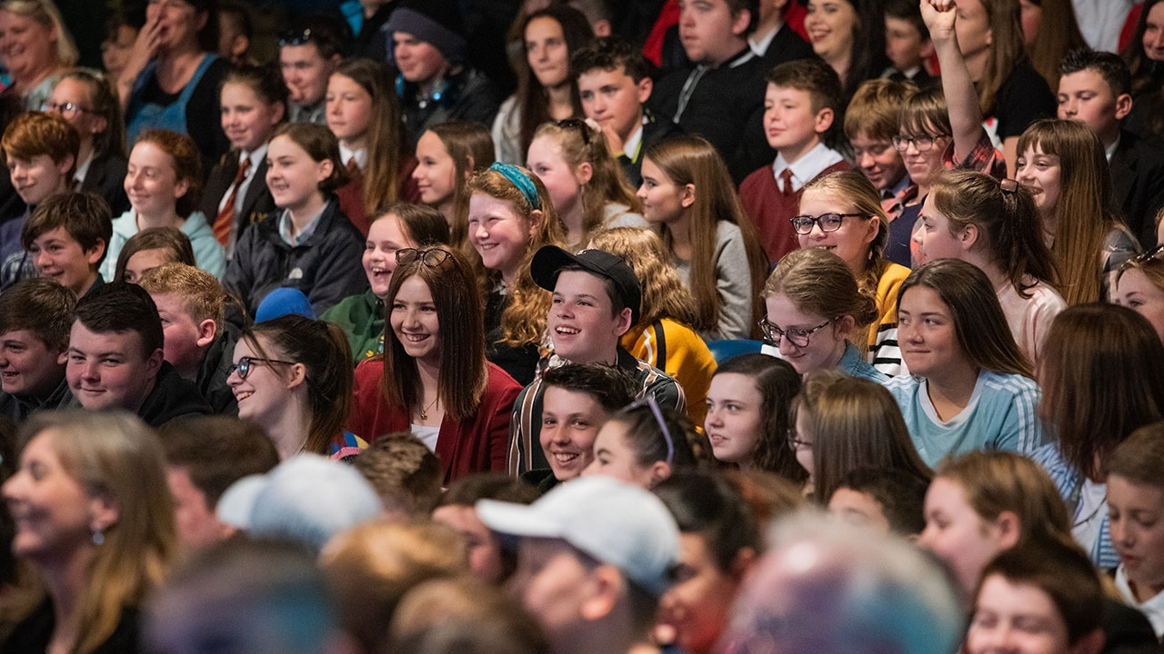 Young audience at Hay Festival