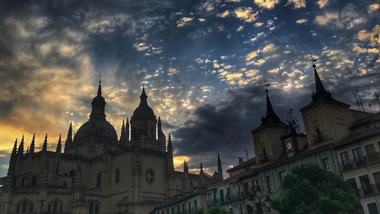 Segovia sky at night