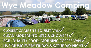 Wye Meadow Camping at Hay Festival