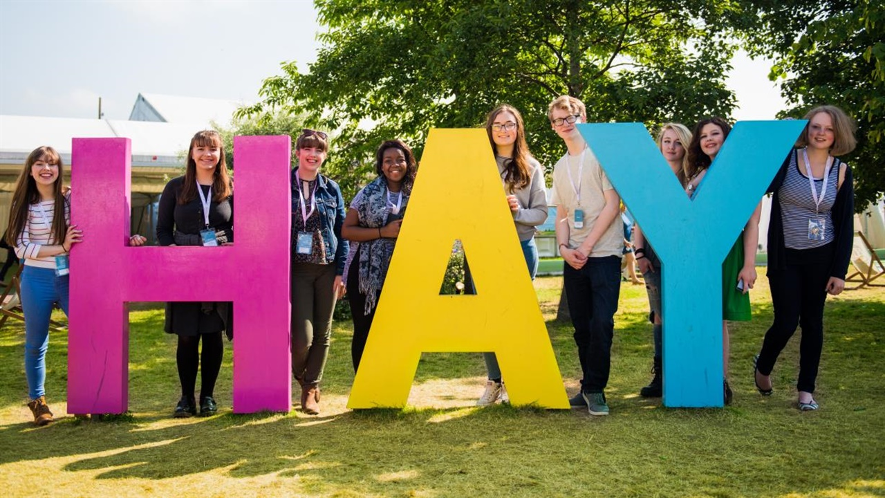 Beacons Project students at Hay Festival