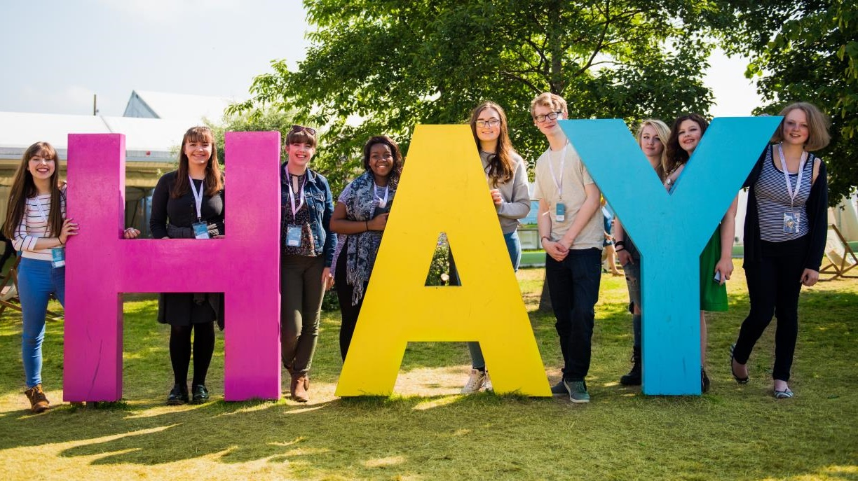 Hay Festival sign large letters