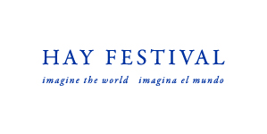 Hay Festival English and Spanish logo blue