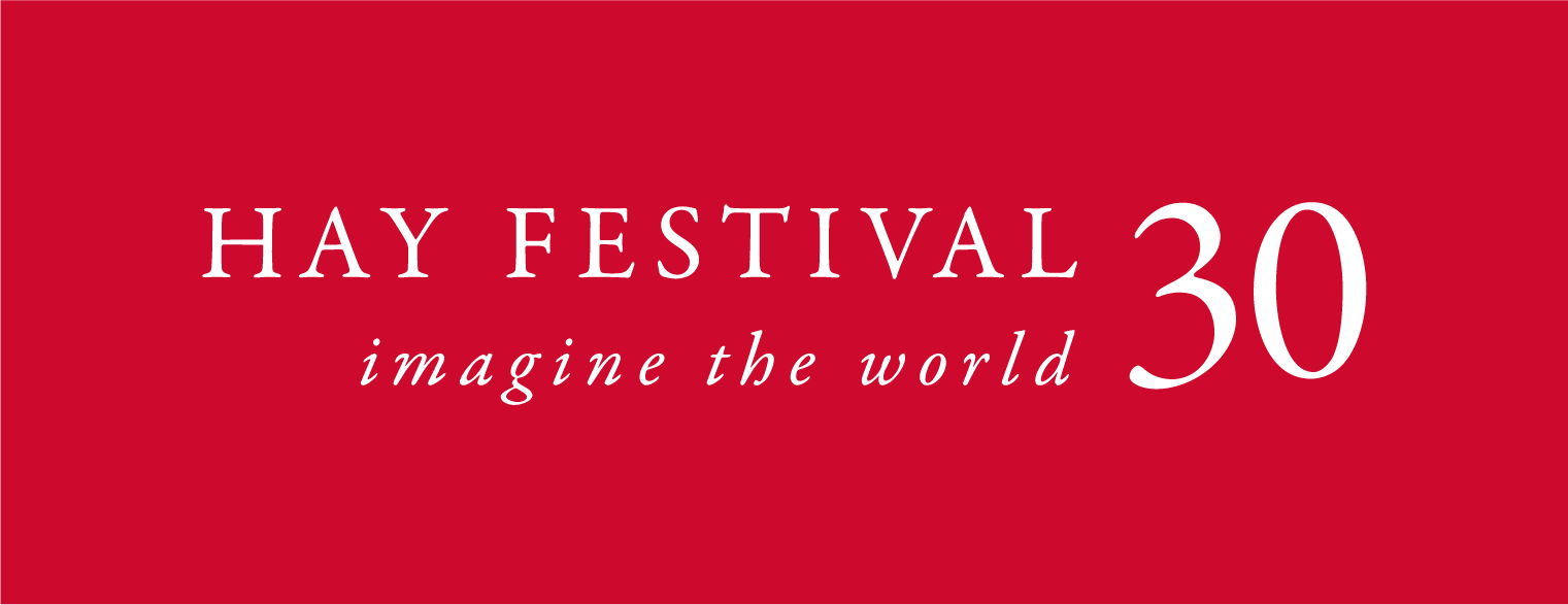 Hay Festival 30 logo white on red