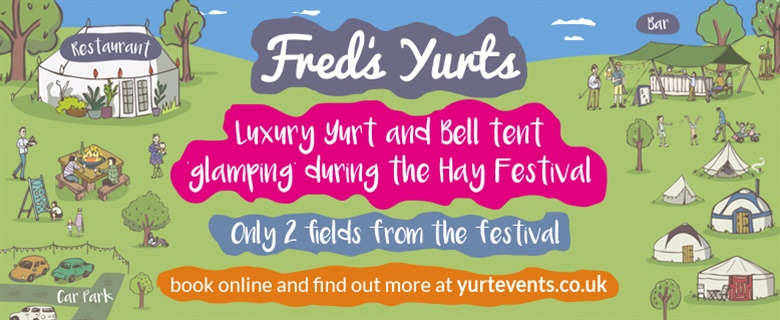 Fred's Yurts at Hay Festival 2020