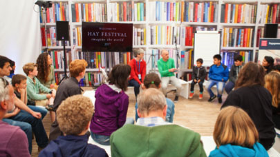 Audience for How I Got Here at Hay Festival