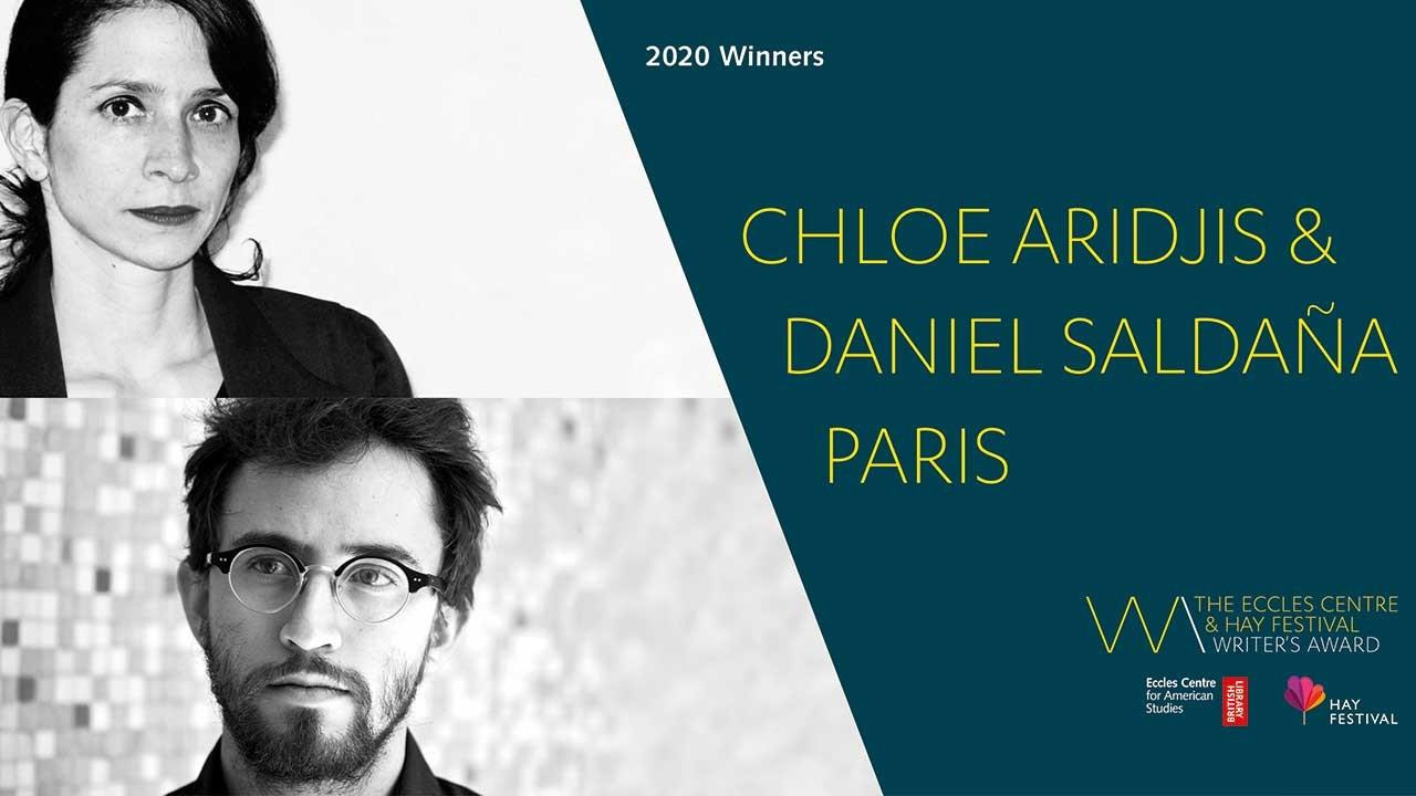 Chloe Aridjis and Daniel Saldaña Paris win Writer's Award