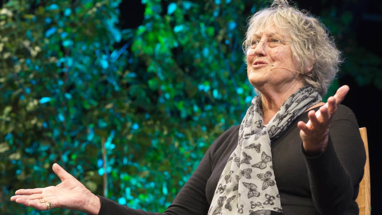 Germaine Greer at Hay Festival