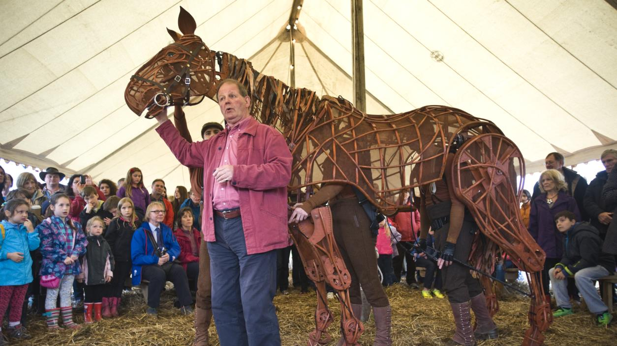 Michael Morpurgo with Joey from Warhorse