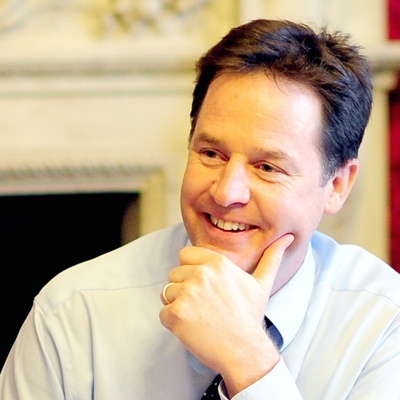 Nick Clegg talks to Matthew d'Ancona