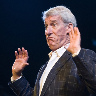 Jeremy Paxman interrogated by Marcus Brigstocke