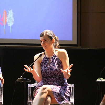 Juan Cárdenas, Renato Cisneros and Samanta Schweblin in conversation with Camilo Hoyos