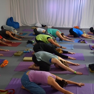 Morning Iyengar yoga session with Wye Valley Yoga