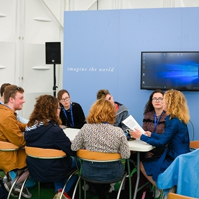 Hay Festival Youth Council with Rosie Boycott