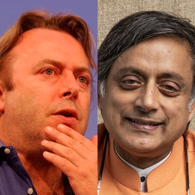 Christopher Hitchens and Shashi Tharoor