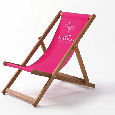 AVAILABLE FOR PRE-ORDER for MID-JUNE:  Limited Edition Hay Festival Deckchairs