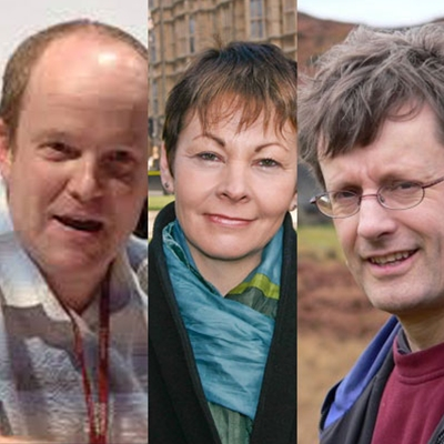 Andrew Simms, David Boyle and Caroline Lucas