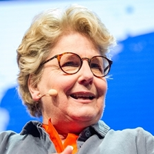 Sandi Toksvig talks to Lennie Goodings