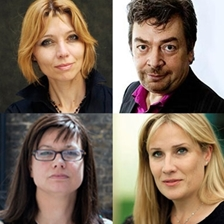 Elif Shafak, Rachael Jolley, Sarah Churchwell and David Aaronovitch