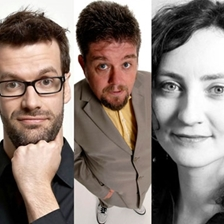 Marcus Brigstocke, Carrie Quinlan, Andre Vincent and guest