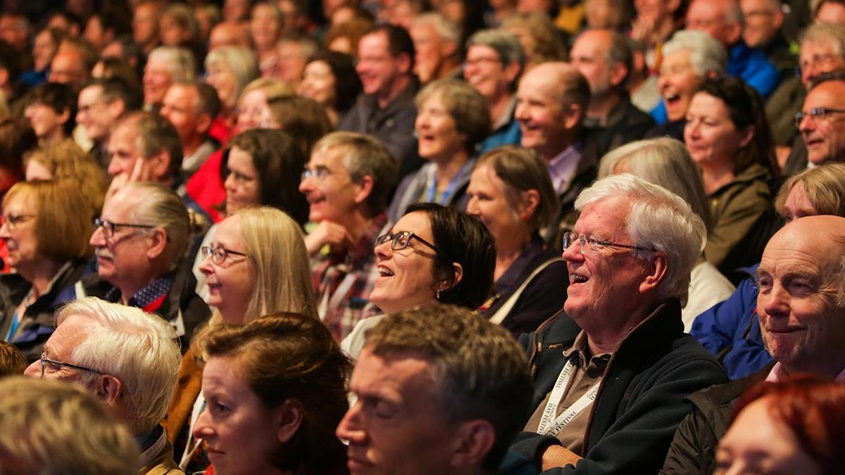 audience at hay festival