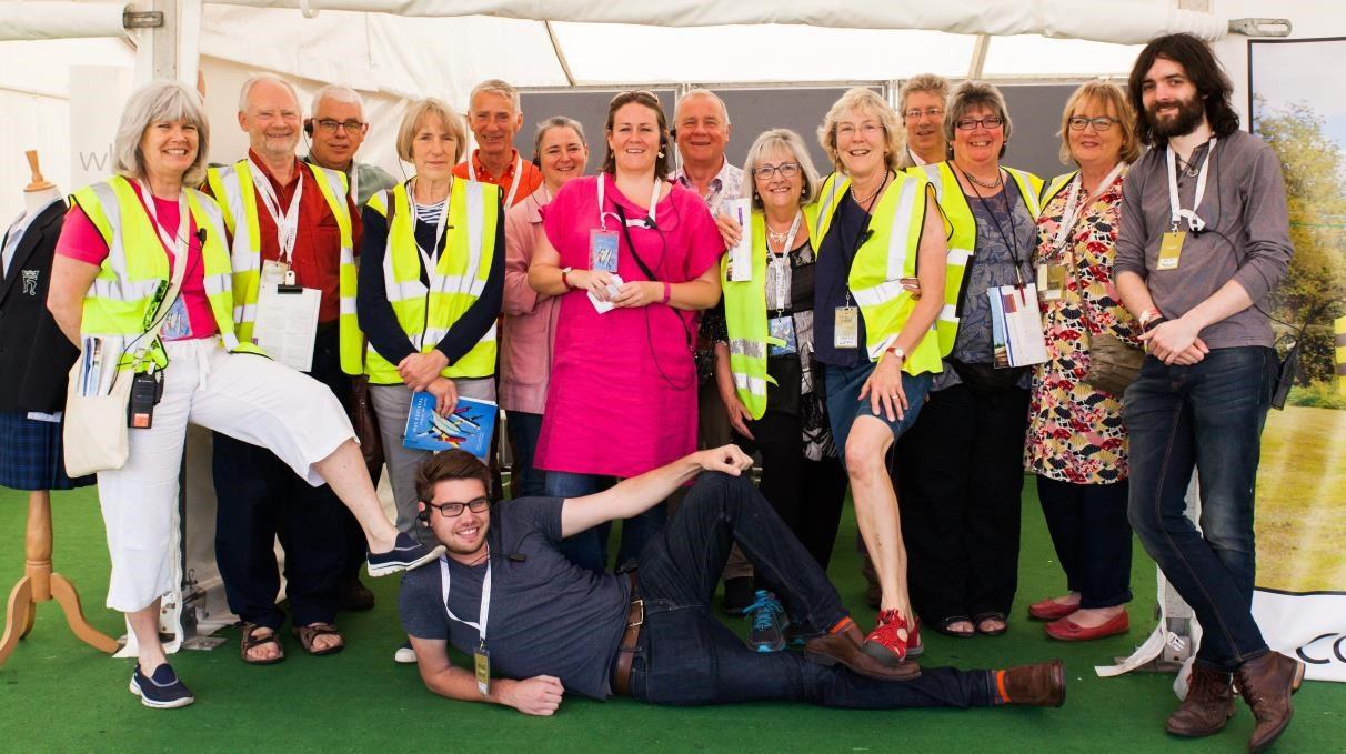 Steward at Hay Festival