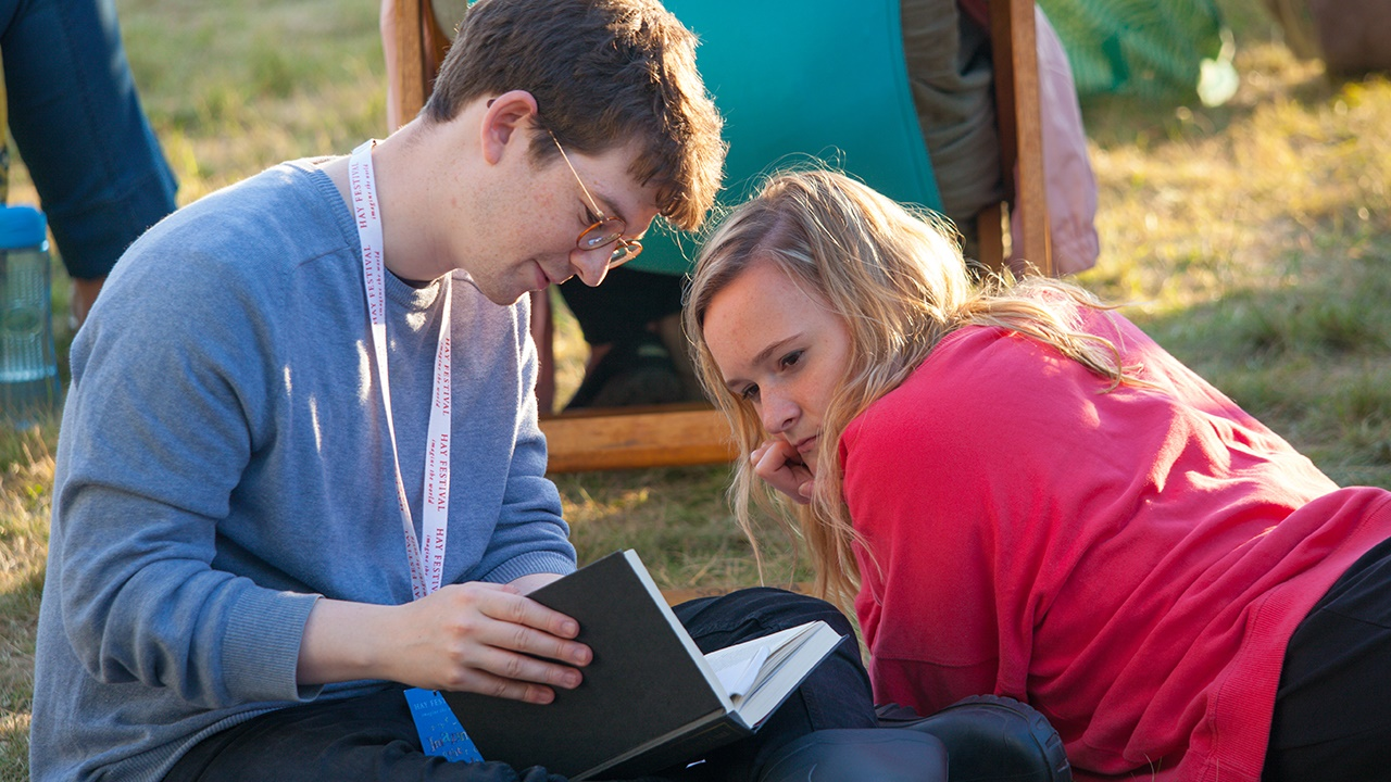 Students at Hay Festival