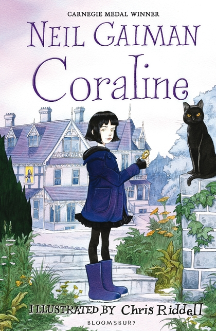 Coraline written by Neil Gaiman illustrated by Chris Riddell