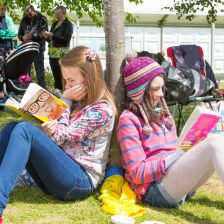 Teenage girls reading